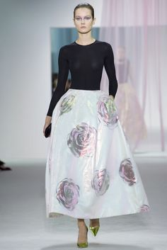 53789e526d Christian Dior Spring 2013 RTW Iridescent Rose-Print Skirt media gallery on  Coolspotters. See photos