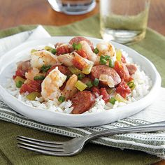 Sausage Jambalaya | Round out this meal with a small green salad and a slice of toasted French baguette.