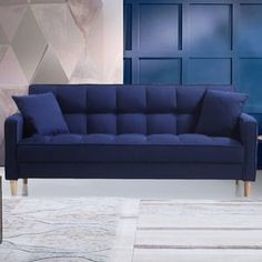 Ebern Designs Wooler Modern Linen Fabric Tufted Small Space Sofa Image 6 of 7 Small Space Living Room, Sofas For Small Spaces, Small Sofa, Living Room Sofa, Living Rooms, Sofa Couch, Couch Set, Sofa Design, Interior Design
