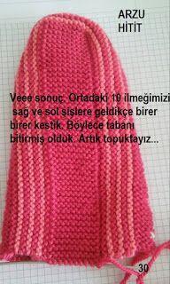 Arzunun Patikleri: 2 Şişle Muhteşem Kilim Desenli Patiğim ve Açıklaması Knitting Patterns Free, Free Knitting, Free Pattern, Sewing Patterns, Knitted Hats, Crochet Hats, Moda Emo, Tunisian Crochet, Slipper Socks