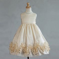 Ivory champagne flower girl dress with detachable train. Description from pinterest.com. I searched for this on bing.com/images