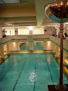 The Lansdowne Club pool 1930s: London art deco interior is this where they filmed an episode of sherlock