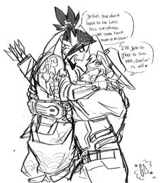 """transmercy: """" ghostalebrije: """" cuz u know, any mission could be the last….and all that ( I really like drawing McCree lifting/carrying Hanzo). Just McFucking Kill me EDIT: GUESS WHOS A DINGLEBERRY AND FORGOT TO ADD THAT THIS IS A BDAY PRESENT FOR..."""