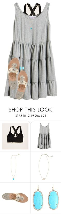 """""""Ily💕"""" by evedriggers ❤ liked on Polyvore featuring Aerie, Kendra Scott and Jack Rogers"""