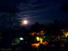 Montelarco (Rignano Flaminio, Roma) Notturno  del giardino di casa e dintorni