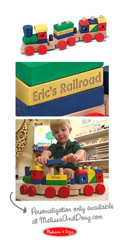 Impressed that the personalization is only an extra two-bucks on the Melissa & Doug site...
