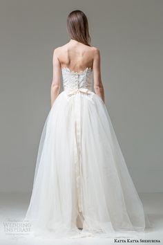 katya katya shehurina clara strapless ball gown wedding dress back