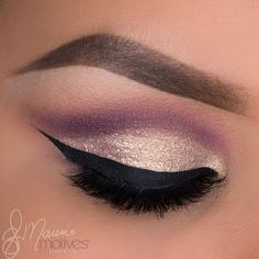 purple and gold shimmer eyeshadow#prom