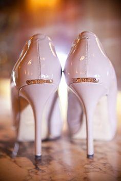 little gold plates on my heels....