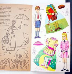 Vintage Golden Funtime Book Mary Poppins Paper Dolls 1964 Uncut Walt Disney | eBay