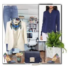 Office work by ganing on Polyvore featuring мода, WithChic, Paige Denim, Daya, Furla, Emilio Pucci and Worlds Away
