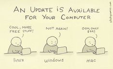 Windows Vs Mac Vs Linux: 10 Funny Jokes In Pictures Information Technology Humor Humour Geek, Tech Humor, Computer Humor, Information Technology Humor, Kali Linux, Programming Humor, Physics Humor, Engineering Humor, Humor Grafico