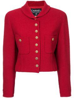 Comprar Chanel Vintage clover buttons cropped jacket