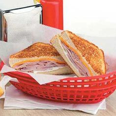 foreman grill, cheeses grilled, grill ham, grill recip, meal