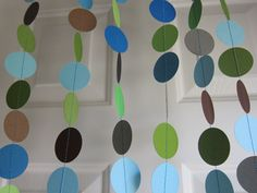 Paper Garland, Baby Boy Shower Decorations, Sprinkle Decorations, Birthday Decorations, Earth Day, Wedding. $22.00, via Etsy.