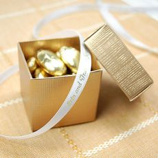 Gold Two Piece Favour Boxes - Pink Frosting Wedding Favours & Bomboniere