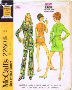 1970's Vintage Mc Calls Sewing Pattern