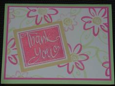 One Sheet Wonder Thank You by Glitter_Girl - Cards and Paper Crafts at Splitcoaststampers