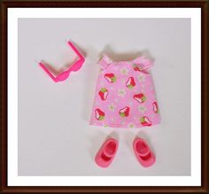 Strawberry Print Dress - Kelly Doll Clothes - Barbie's Lil Sister - Mattel