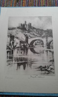Richmond, print of etching by Margret Dobson, pencil signed by artist. by MarysCuriosityStore on Etsy Living In England, Pencil, Artist, Etsy, Artists