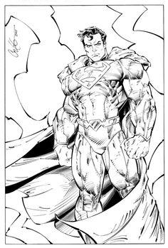 Superman Comic Art