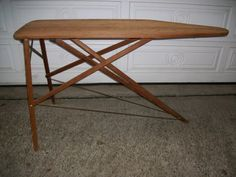 Ironing Board Solid Wood Vintage by MaralynsCollectables on Etsy, $89.95