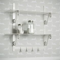 An attractive, hand forged steel shelving unit. Available in the ful range of finishes.
