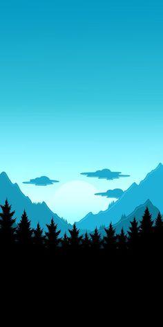 Ideas nature artwork paintings mobiles for 2019 Minimalist Desktop Wallpaper, Wallpaper Für Desktop, Minimal Wallpaper, Phone Screen Wallpaper, Scenery Wallpaper, Landscape Wallpaper, Nature Wallpaper, Landscape Art, Wallpaper Backgrounds