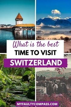 Read on for a complete guide to different seasons in Switzerland and how to pick the right time for a visit! There is so much to see and do in Switzerland that really there is no bad time to travel to Switzerland - it's nearly a year-round destination. It comes down to what you are looking to do in Switzerland.Best time to visit Switzerland | Best month to visit Switzerland| When to travel to Switzerland | Switzerland in winter | Switzerland in Fall | Switzerland in Summer #MyFaultyCompass Switzerland In Winter, Switzerland Travel Guide, Switzerland Itinerary, Visit Switzerland, Europe Destinations, Europe Travel Guide, Travel Guides, Amazing Destinations, France