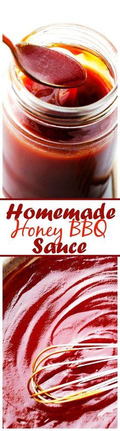 Homemade Honey Barbecue Sauce