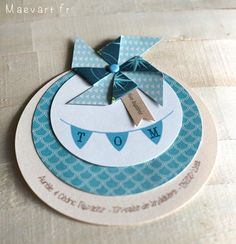 Diy And Crafts, Paper Crafts, Christening Invitations, Welcome Baby, Baby Scrapbook, Communion, Stamping Up, Pinwheels, Diy Cards