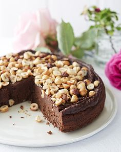 Clean Eating Chocolate Hazelnut Torte + A Giveaway