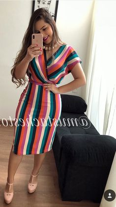 Pin by Maria espinoza on vestidos verano in 2019 Trendy Dresses, Casual Dresses, Short Sleeve Dresses, Trend Fashion, Womens Fashion, Fashion Design, Modest Fashion, Fashion Dresses, Work Attire