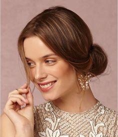 Hair idea? + big earrings (and a flower?)