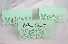 Place Cards Escort Table Mint Green Vintage by AllThingsAngelas, $10.00 INEXPENSIVeE