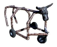 Roping Dummy Ideas.... I wonder if Blake could make us one of these for the kids?!