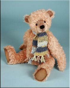 "'Romeo' by Paula Carter 18"" mohair teddy bear www.allbear.co.uk"