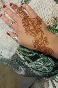Henna after you take it off. I love the vibrant orange color!