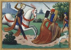 """""""An unlikely victory during the 100 Years War: Joan of Arc expelling prostitutes from the camps"""" (translation from the Spanish)"""