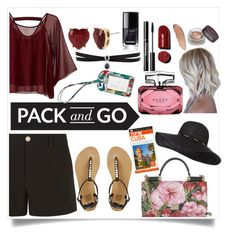 """""""Pack and go;Cuba"""" by mk19972000 ❤ liked on Polyvore featuring Traffic People, Gucci, Vera Bradley, Dolce&Gabbana, Fallon, Betsey Johnson and DK"""