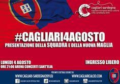PRESENTAZIONE DEL CAGLIARI CALCIO – ARENA CONCERTI SANT'ELIA – CAGLIARI – LUNEDI 4 AGOSTO 2014