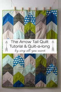 The Kansas City Modern Quilt Guild: Inspiration of the Week - Arrow Tail Quilt maybe I could figure out how go make a pattern like this with crochet! Quilting Tips, Quilting Tutorials, Quilting Projects, Quilting Designs, Sewing Projects, Quilt Design, Chevron Quilt Tutorials, Machine Quilting, Sewing Hacks