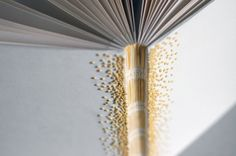 Yellow french knot guestbook by Natalie Stopka