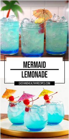 Mermaid Lemonade is the perfect rum cocktail for summer with it's stunning blue color. The fabulous combination of lemonade, Party Drinks Alcohol, Alcohol Drink Recipes, Fruit Drinks, Alcoholic Drinks, Beverages, Rum Punch Cocktail, Lemonade Cocktail, Couple Halloween Costumes For Adults, Couple Costumes