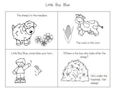 little boy blue humpty dumpty and mary had a little lamb sequencing