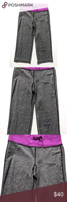 Lululemon Relaxed Fit Crop Pants Luon Heather Gray Lululemon Relaxed Fit Crop Pants Luon Heather Gray Wide Leg  Size 4  Condition: VGUC, some cling My items come from a smoke-free household, we do have a kitty, so an occasional hair may occur! lululemon athletica Pants Ankle & Cropped
