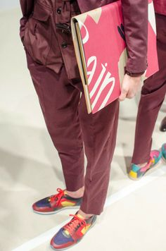Burberry Prorsum SS15 Mens collections, Dazed backstage