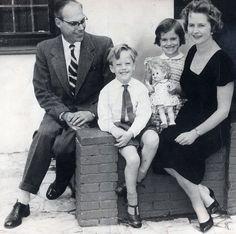Thatcher_familyA Família Thatcher. Denis, Mark, Carol e Margaret