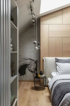 Ultra contemporary interiors with a fresh and sophisticated look – Decoholi … – Interior Design Decoration – Wall Panel Bookshelves In Bedroom, Dream House Exterior, Residential Architecture, Contemporary Interior, Decor Interior Design, Decoration, Modern Design, House Styles, Loft Apartments