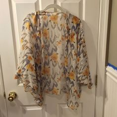 Anthropologie Ellie Meant size S/M Shawl Anthropologie shear cardi/shawl by Ellie Meant. Can be thrown over a tank and you're instantly dressed up. Size S/M very blousy and fun for summer Anthropologie Tops